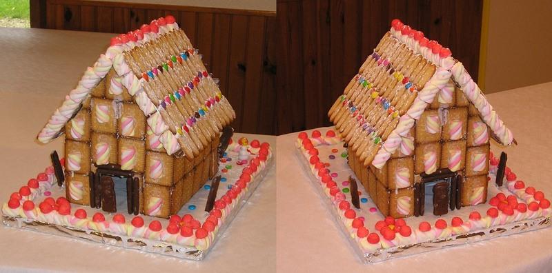... pédagogique ont préparé cette maison en gâteau sec et friandises